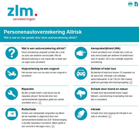 Verzekeringskaart ZLM autoverzekering